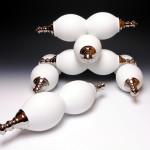 Kreisel II  (2015) </br>  Porcelain, Glaze, Platinum Luster