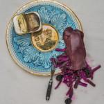 Platter with Kidney, Blackberries, Kimchi, Eel (2013 ) </br>Photography  (Photo: EG Schempf)