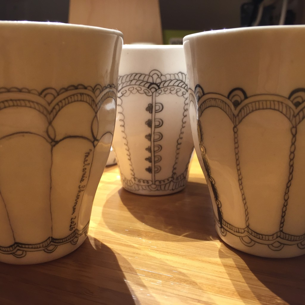 porcelain cups by melanie sherman