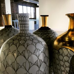 Photoshoot of work from the ceramic exhibition SCHEMA with EG Schempf in Kansas City, Missouri