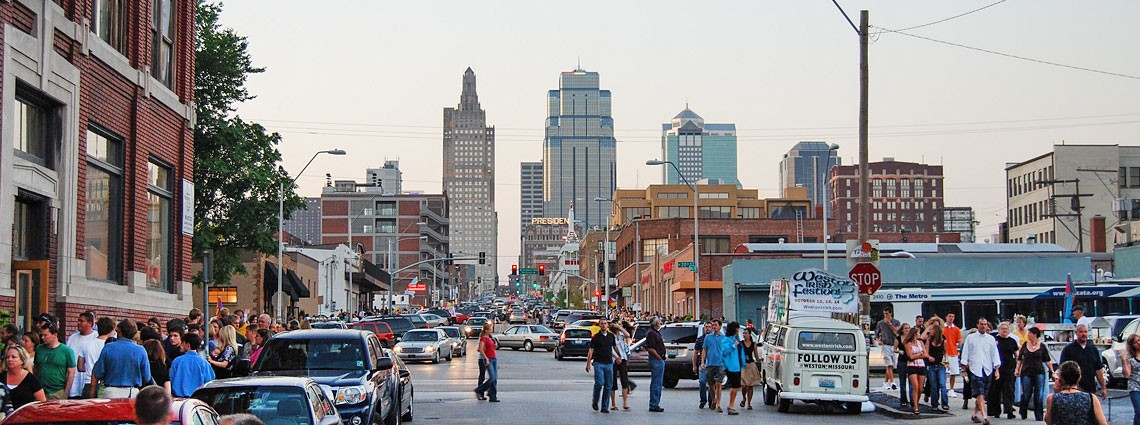 First Friday in Kansas City Crossroads Art District