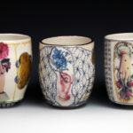 """""""Main avec fleurs"""", Cups"""